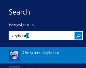 Hyper-V Search for Keyboard